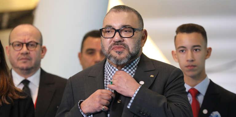 Le roi du Maroc, Mohammed VI, à Paris, le 12décembre 2017.