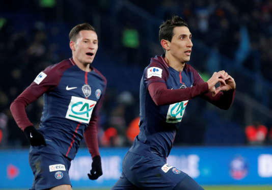 Angel Di Maria a inscrit un doublé face à l'OM en quarts de finale de la Coupe de France.