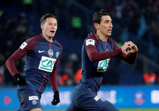 Angel Di Maria a inscrit un doublé face à l'OM en quarts de finale de la Coupe de France.