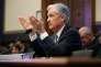 Le président de la Réserve fédérale américaine Jerome Powell, devant la commission des services financiers de la Chambre des représentants, le 27 février à Washington.