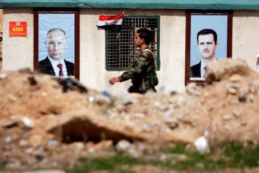 Un soldat syrien, dans l'est de la Ghouta, le 28 février.