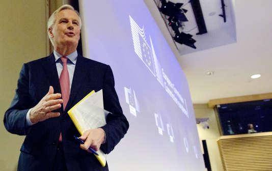 Michel Barnier, le négociateur en chef du Brexit pour l'UE, à Bruxelles, le 28 février 2018.