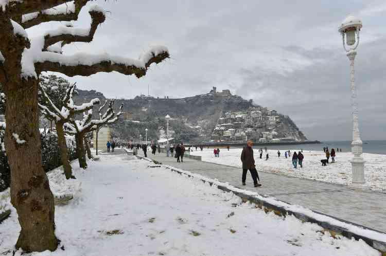 A Saint-Sébastien, dans le Pays basque espagnol, où les écoles sont restées fermées, le 28 février.
