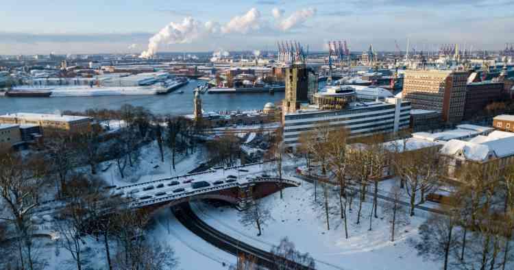 Le port de Hambourg, en Allemagne, le 26 février.