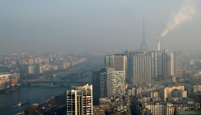 Paris pendant un épisode de pollution.