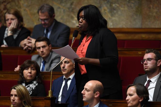 Laetitia Avia, lors d'une séance de questions au gouvernement, le 8 novembre à l'Assemblée nationale.