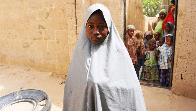 Une écolière ayant échappé à l'enlèvement, le 22 février à Dapchi.