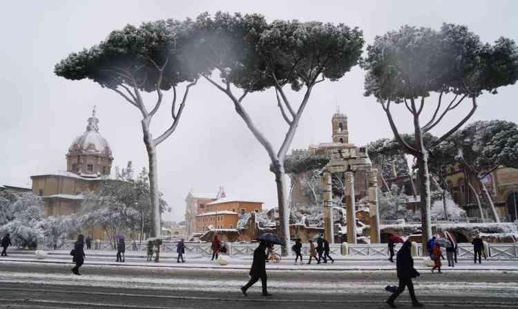 Dans le centre de Rome, le 26 février.