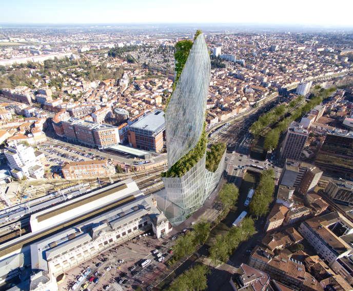 La Tour Occitanie, à Toulouse, près de la gare Matabiau.