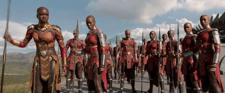 Les Dora Milaje, la garde présidentielle exclusivement féminine du roi du Wakanda, évoquent les célèbres amazones fon du royaume du Dahomey.