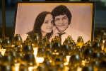Une photo de Jan Kuciak et de sa compagne Martina Kusnirova, retrouvés assassinés les 25 février, en Slovaquie.