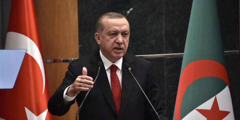 Le président truc, Recep Tayyip Erdogan, à Alger, le 27février 2018.