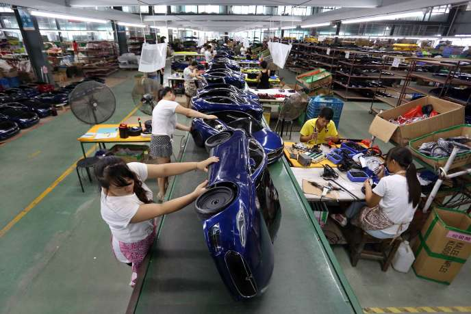Une usine de fabrication de jouets à Jinjiang (province de Fujian), en Chine, en juillet 2016.