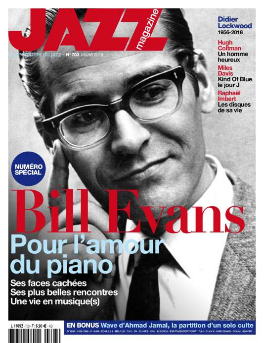 Couverture du numéro de mars 2018 du mensuel « Jazz magazine».
