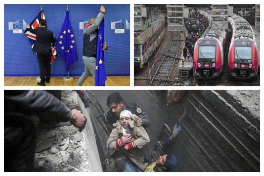 Brexit, réforme à la SNCF, bombardement de la Ghouta orientale à Damas.