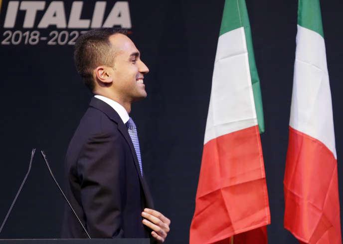Le chef de file du Mouvement 5 étoiles, Luigi Di Maio à Rome, le 1er mars.