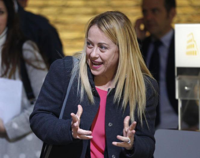 Giorgia Meloni à Rome, le 1er mars.