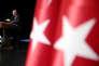 Le président turc, Recep Tayyip Erdogan, lors d'un meeting au palais présidentiel d'Ankara, le 21 février.