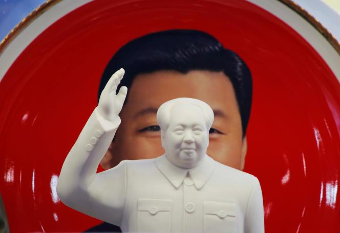 Une sculpture de Mao Zedong dans un magasin près de la place Tiananmen, à Pékin, le 1ermars 2018.