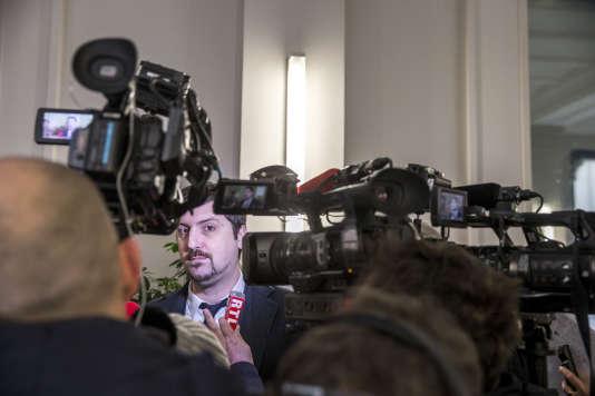 Laurent Brun, secrétaire général de la fédération CGT des cheminots à Paris, jeudi 1er mars 2018.