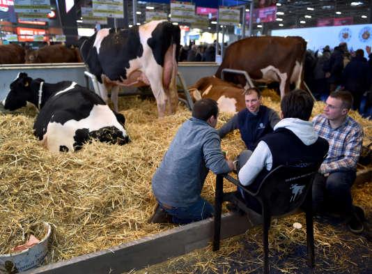 Salon de l'Agriculture, porte de Versailles, à Paris, le 24 février 2018