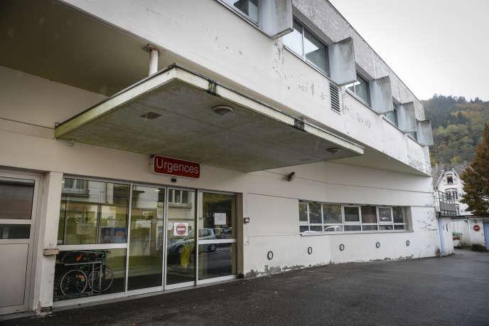 L'entrée principale des urgences de Thann (Haut-Rhin), le 5 novembre 2016.