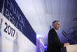 PSA Peugeot Citroen CEO Carlos Tavares delivers a speech during the presentation of the company's 2017 full year results, in Rueil- Malmaison, west of Paris, France, Thursday, March 1, 2018. (AP Photo/Thibault Camus)