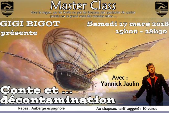 La« Master Class» de Gigi Bigot avec Yannick Jaulin à la Mission bretonne.