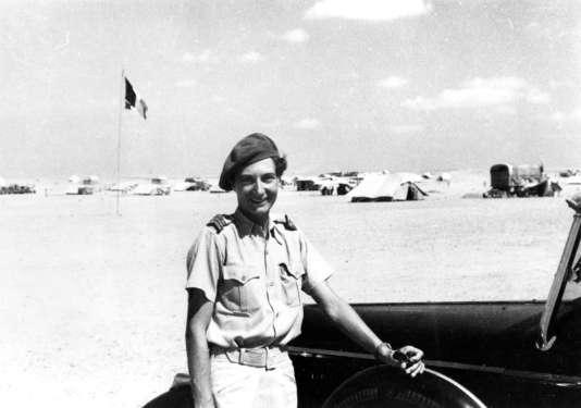 Susan Travers en Afrique du Nord au début des années 1940.