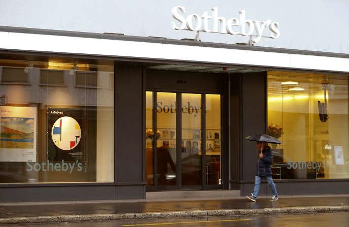 La filiale de Sotheby's à Zurich (Suisse), en octobre 2016.