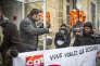 Rassemblement du personnel de la SNCF à Bordeaux le 28février.