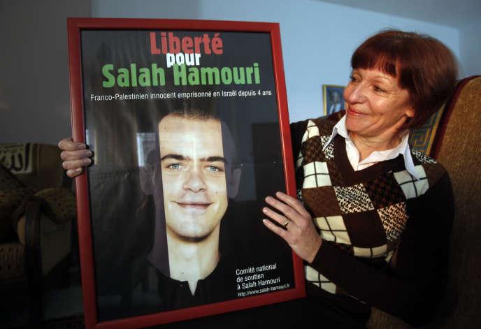 La mère deSalah Hamouri, en 2011 à Jérusalem.
