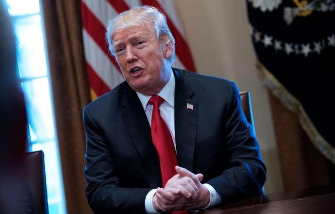Le président américain Donald Trump, le 1er mars, à la Maison Blanche.