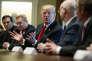 Donald Trump en compagnie des PDG des sociétés AK Steel et Nucor, à la Maison Blanche, le 1er mars.