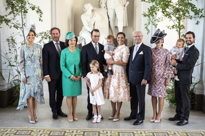 La famille royale suédoise, le 14 juillet 2017, à Stockholm.