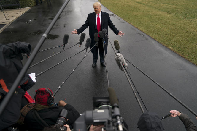 Donald Trump à la Maison Blanche, le 23 février.