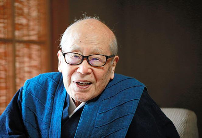 Le poète japonais Tota Kaneko, en octobre 2017.