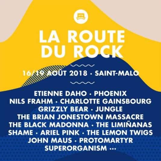 Affiche du festival La Route du Rock.