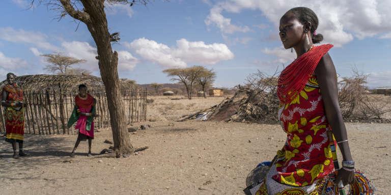 A Mopukori, en février 2018. Vingt-six femmes vivent dans ce village refuge, plus de 300 kilomètres au nord de Nairobi. Elles seules peuvent décider quels hommes sont autorisés à résider sur place.