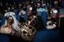 Une projection avec déguisements et lunettes 3D du film deRyan Coogler,« Black Panther» à Nairobi (Kenya), le 14 février.