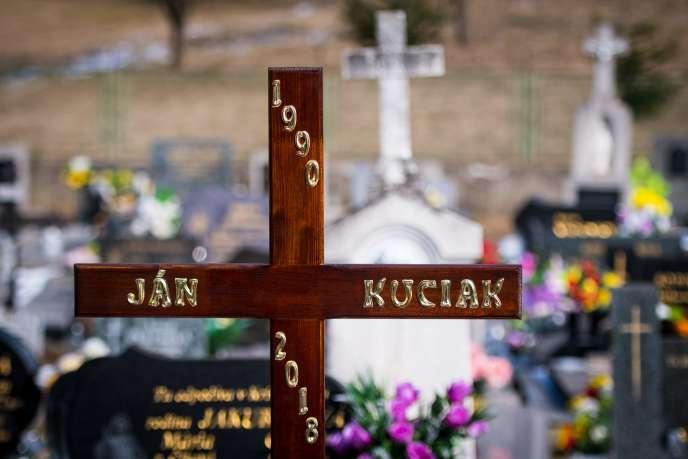 Au cimetière de Stiavnik (Slovaquie), le 3 mars.