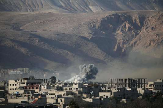 Des frappes dans la Ghouta orientale, le 3 mars.