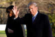 Donald Trump et son épouse Melania à leur retour de Palm Beach (Floride), à Washington, le 3 mars.