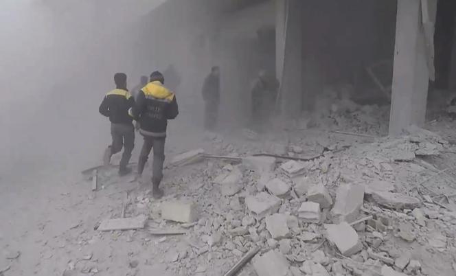 Dans la Ghouta, le 25 février 2018.