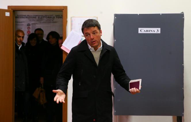 Le secrétaire général du Parti démocrate, Matteo Renzi.