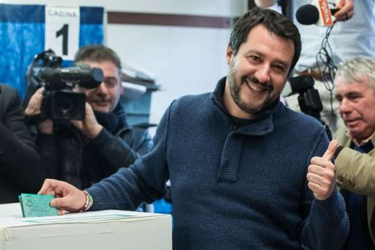 Le leadeur de la Ligue du Nord, Matteo Salvini.