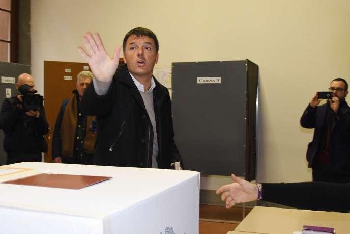 Le secrétaire du Parti démocrate, Matteo Renzi, à Florence, le 4 mars.