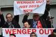 Les supporters d'Arsenal ont manifesté leur mécontentement à Arsène Wenger, de plus en plus menacé à la tête du club.