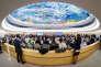 Réunion de la 37e session du Conseil des droits de l'homme, à Genève, le 27 fevrier.