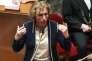Muriel Penicaud, ministre du travail, à l'Assemblée le 21février.